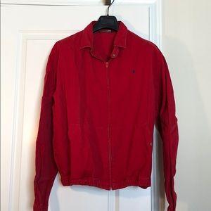 Men's polo cotton bomber jacket
